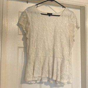 Apt 9 XL Lace Peplum Shirt